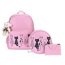 Buy Alice Fashion Girls <b>3</b>-<b>PCS</b> Fashion <b>Cute</b> Mini Leather Backpack ...