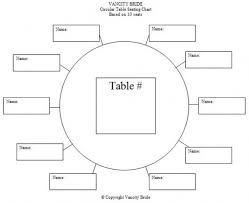 Wedding Seating Chart Template Round Tables Example 947