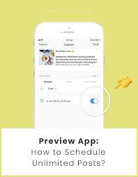 Free Schedule Preview App Schedule Instagram Posts Free Unlimited