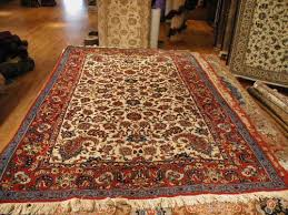 blue and mauve tabriz fl persian rug