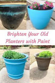 outdoor planter makeovers refresh your old planters with decoart paint pot painting ideas