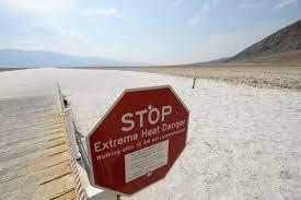 Death Valley California Nears Record ...