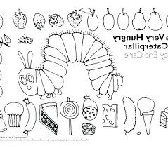 Printable Very Hungry Caterpillar Coloring Pages Very Hungry