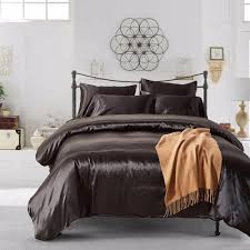 2 duvet cover sham set solid color duvet cover set silk like double queen king black gold silver grey duvets covers cotton duvet cover sets from