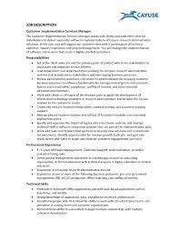 Customer Service Project Manager Job Description Restaurant Duties