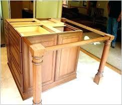 countertop support legs smaller posts kitchen island overhang inside decor counter