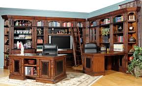 home office unit. Parker House Leonardo Library Wall With Entertainment Unit And Built-In Desk | Wayside Furniture Home Office