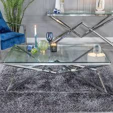 urban deco pyramid glass and chrome