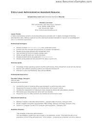 Entry Level Office Assistant Resume Interesting Administrative Assistant Skills Resume Examples 48 Mmventuresco
