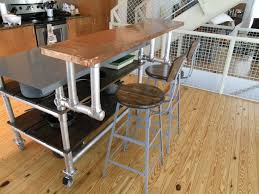 Homemade Kitchen Island Cart On Wheels With Breakfast Bar Bar Table