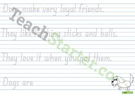 Handwriting Page Handwriting Sheets Theme Pages 1
