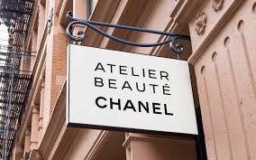 sign for the new chanel beauty outpost in soho new york city