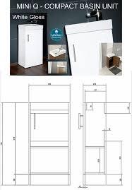 Mini Q Compact White Gloss Basin and Unit 400 x 200mm