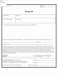 Job Proposal Form Proposal Form Template Lovely Free Bid Proposal Template