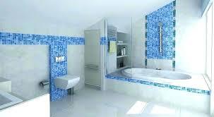 blue and white bathroom ideas tile gray tiles victorian