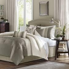amazoncom madison park  piece comforter set queen  natural
