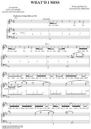 musical sheet print and download satisfied sheet music from hamilton an american