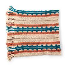 Southwest Pattern Cool Caron Southwest Stripe Crochet Blanket Pattern Yarnspirations