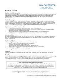 Actuary Resume Actuarial Science Cover Letter Sample