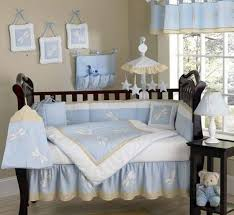 crib bedding set blue dragonfly dreams