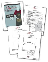 Notebook Templates Learn To Sew Levels One And Two With Patterns