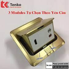 Ổ Cắm Điện Âm Sàn 3 Modules Bằng Đồng Tenko TK-J02-14 -