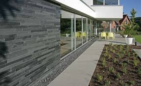 external slate wall tiles. slate wall cladding / exterior - black natural slate outdoor external tiles x