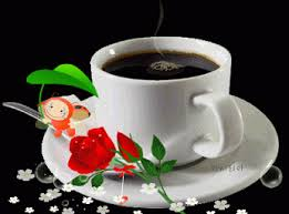 good morning animated gif wallpaper cup plate coffee rose