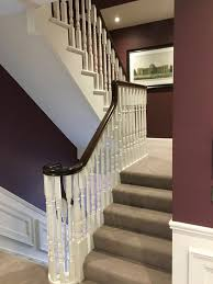 part of the staircase in the latest show house we have finished in dun laoghaire