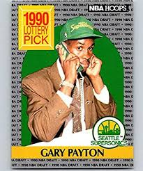 Printed in 1991 by nba properties, inc. Trading Cards Seattle Supersonics Gary Payton Basketball Card 1990 Hoops 391 Rookie Single Cards