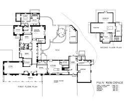 Old Santa Fe Trail   Floor Plans   Santa Fe  New MexicoFloor Plan of Guest House  Floor Plan of Caretaker    s Residence  amp  Stables
