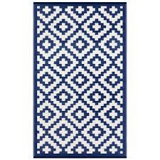 nirvana navy blue white lightweight indoor outdoor reversible plastic rug