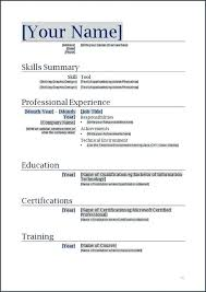 Pro Forma Document Examples Resume Layouts Word Curriculum Vitae Format Word Com Proforma Of