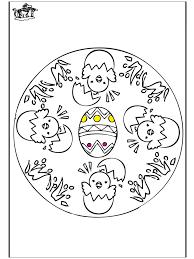 Pasen Mandala 1 Kleurplaten Pasen