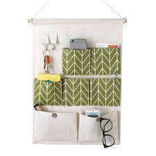 nonof waterproof moistureproof linen cotton fabric wall door cloth hanging storage bag case 7 pockets and