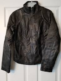 maurices small black faux leather motorcycle jacket