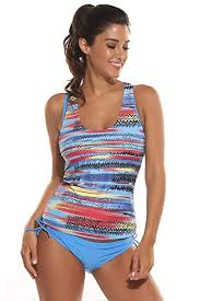 Ekouaer Swimsuits Womens Solid Tankini With Padded Print Boyshort Bikini 3 Pieces Set Bathing Suit Swimwear