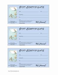 Word Gift Card Template Spa Gift Certificate