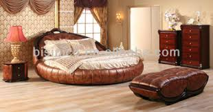 bench bedroom furniture. Contemporary Luxury Bedroom Furniture Set, Golden Genuine Leather Round Bed, King Bench
