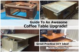 Instructables Coffee Table Guide To An Awesome Coffee Table Upgrade