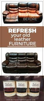 do you have real leather furniture that has faded from wear and tear and bod y oils instead of throwing away that expensive item give it some reluv