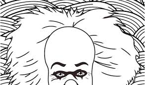 Pennywise The Dancing Clown Coloring Pages The Clown Coloring Pages