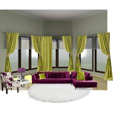 purple and green living room polyvore