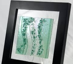 glass wall art fused glass wall art sea glass green large tempered glass wall art glass wall art ocean waves fused