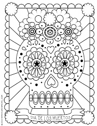 Day Of The Dead Girl Coloring Pages At Getdrawingscom Free For