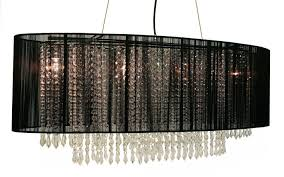 rectangular shade crystal chandelier with black shade designs