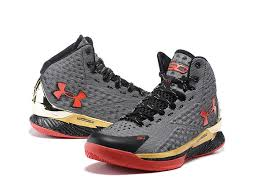 under armour shoes stephen curry gold. men\u0027s stephen curry one mid under armour basketball shoes grey/gold/red gold s