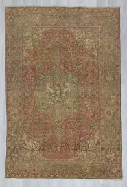 1204 vintage washed out persian rug