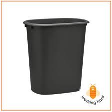 PLASTIC TRASH CAN 2.5Gal Black Waste Garbage Basket Recycling Bin Kitchen  Office