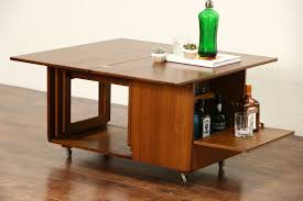 midcentury modern 1960 vintage coffee cocktail table bar caddy nesting tables